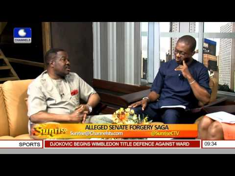 Sunrise: SANs Ozekhome, Ogunye Debate Over Alleged Senate Forgery Saga Pt 3