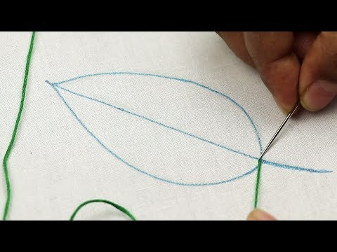 hand embroidery double layered buttonhole stitch, modified   embroidery stitches for beginners