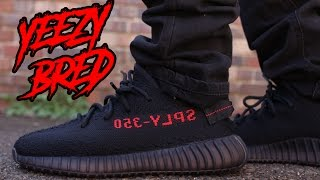 """COP OR NOT ?! YEEZY 350 V2  """"CORE BLACK / RED"""" """"BRED"""" REVIEW AND ON FOOT"""