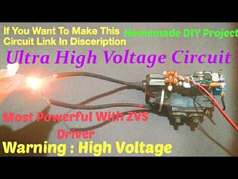 How to make plasma lighter from TV flyback Transformer
