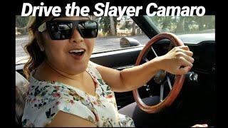 Teaching my asian friend to drive stick In my Turbo Camaro 🙈🙈slayer camaro
