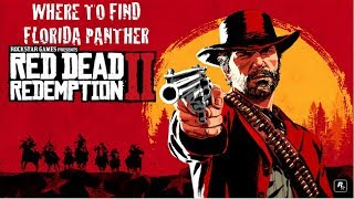 Where to find The Florida  Panther inRed Dead Redemption 2