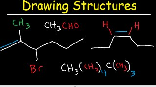 Organic Chemistry Drawing Structures - Bond Line, Skeletal, And Condensed Structural Formulas