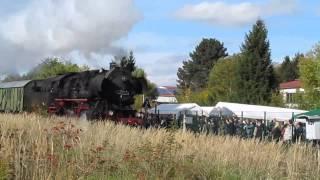 preview picture of video 'Dampflok Sonderfahrt zum Streckenjubiläum Altomünster am 13.10.2013'