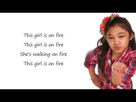 Lyrics of that girl is on fire