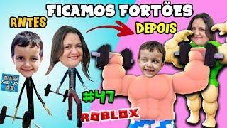 Roblox - Ficamos Fortões Levantando Peso!! (Weight Lifting Simulator 3) Family Plays