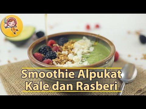 Video Membuat Smoothie Alpukat, Kale dan Rasberi Sederhana dan Mantap - Resep Modern