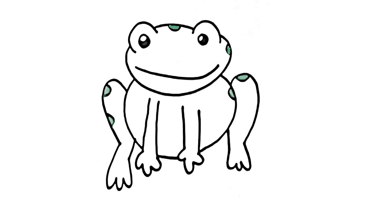 Cómo se dibuja una rana - Manualidades para niños