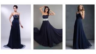 Top 100 Navy maxi dress, long navy blue dresses  for women
