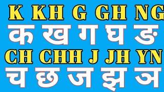 K se k kh se kh all hindi latter  writing into English