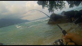 Рыбалка с берега на сейшелах