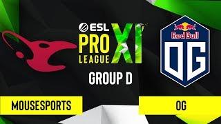 CSGO - mousesports vs. OG [Inferno] Map 3 - ESL Pro League Season 11 - Group C