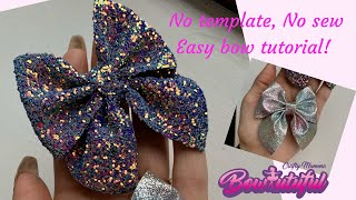 No Template, No Sew, Easy Hair Bow Tutorial//How To Make Hair Bows. DIY Hair Bows 🎀 Laços De Fita: