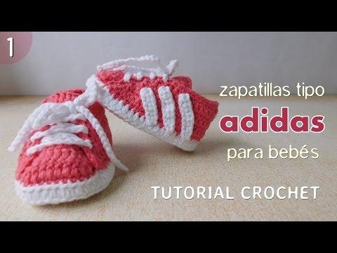 Zapatillas Adidas a crochet para bebé (Parte 1 de 2)