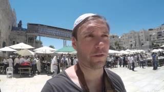 Visiting the Western Wall, Jerusalem, Israel, 2015.