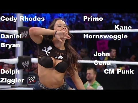 All the Guys AJ Lee Has Kissed in the WWE (2010-2012) (видео)