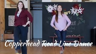 Country Line Dance Instruction   Copperhead Road