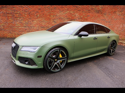WhipAddict: Audi RS7 on custom Mono F2.03 Forgiato 22s, Matte Army Green by MDeezy Visions
