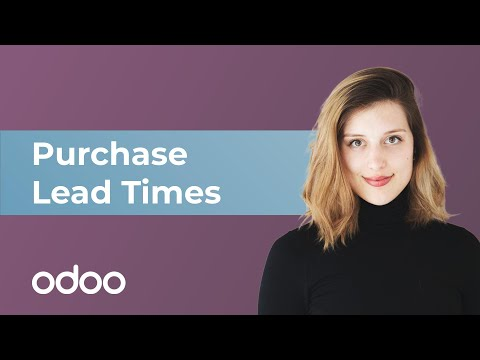 Purchase Lead Times | odoo Purchase