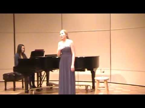 "Koechlin's ""Si tu le veux"" from my Junior Voice Recital!"