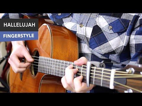 Hallelujah Guitar Tutorial EASY Fingerstyle - Jeff Buckley/ Leonard Cohen/ Shrek