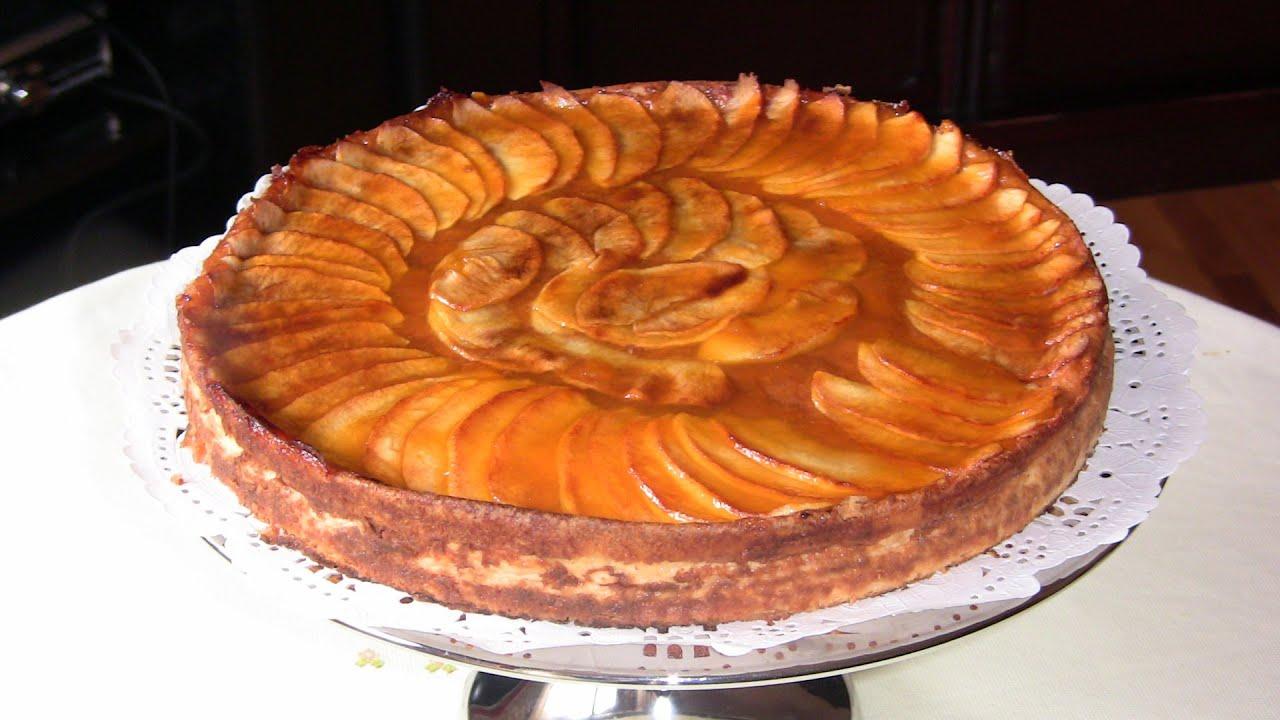 Tarta de manzana sobre quesada de chocolate blanco | Javier Romero