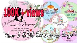 How To Make Business LOGO |How I Edit Business Logo ✨| Pwedeng Pang Negosyo