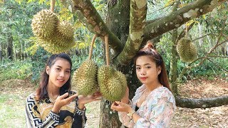 Yummy cooking Durian sticky rice dessert recipe - Cooking skill