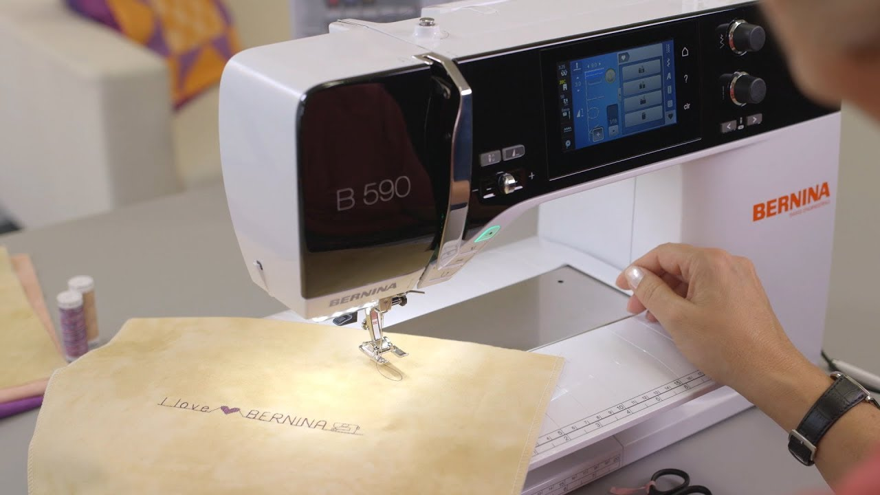 Sewing tutorial: decorative stitches on the B 590 (video tutorial)