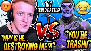 Tfue IN DISBELIEF After CHALLENGING A Stream Sniper To A 1v1 Build Battle & THEN Getting DESTROYED!