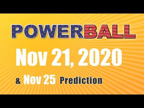 Winning numbers prediction for 2020-11-25|U.S. Powerball