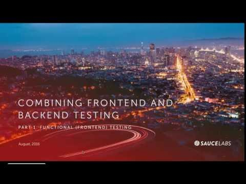 Combining Front-end and Backend Testing with Sauce Labs & BlazeMeter Related YouTube Video