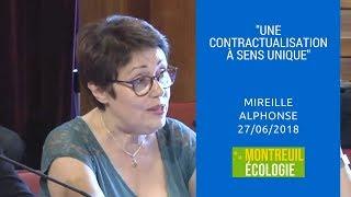 """""""Une contractualisation à sens unique"""" & accueil des migrants : intervention de Mireil"""