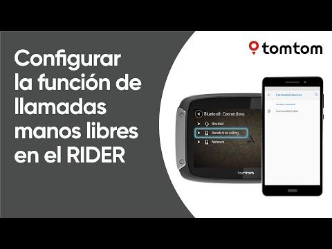 Cómo configurar la función de llamadas manos libres Bluetooth en el Rider