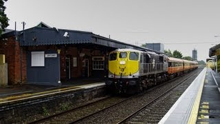 preview picture of video '079 & hauled Pushpull on 1130 Galway-Heuston passing Athenry, Co. Galway 14-September-2008'