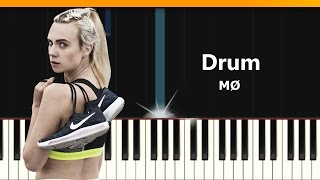 "MØ - ""Drum"" Piano Tutorial - Chords - How To Play - Cover"