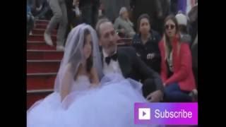 رجل مسن يتزوج من فتاة عمرها 12 عام شاهد رد فعل الناس