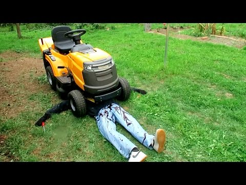 KILLED BY LAWN MOWER PRANK