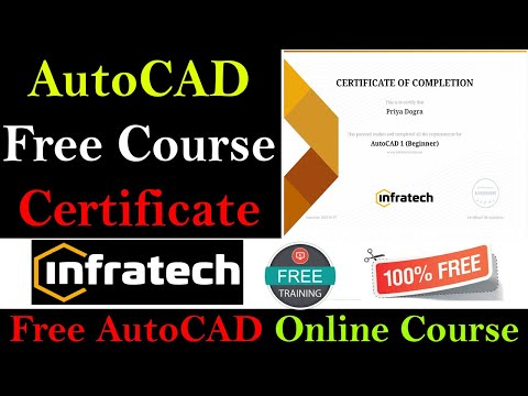 AutoCAD Online Course With Free Certificate - AutoCAD ... - YouTube