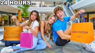 I STAYED 24 HOURS OVERNIGHT IN A MALL!!
