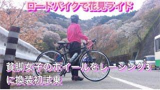 貧脚女子がNEWホイール【フルクラムレーシング3】で吉野へ花見ライド