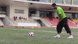 Blindfold Penalty Shootout With Fandi Ahmad [feat. John Yeong]