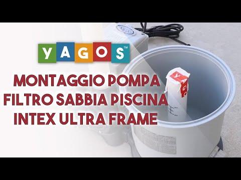 Istruzioni di montaggio pompa filtro a sabbia per piscina Intex Ultra Frame