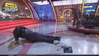 Shaq Falling on Live TV During Halftime Show