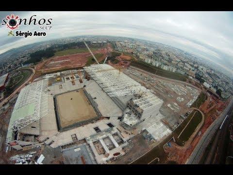Vôo sobre a Arena do Corinthians