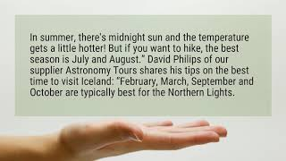 What is the best month to visit Iceland ?