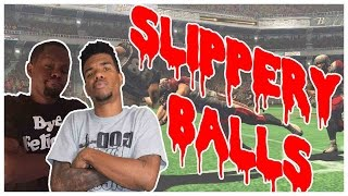 SLIPPERY BALLS?? WHAT THE HECK!! - NFL Blitz The League 2 Gameplay| #ThrowbackThursday ft. Juice