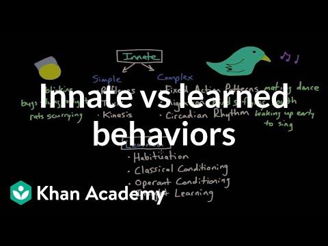 Operant Conditioning Innate Vs Learned Behaviors Video Khan Academy