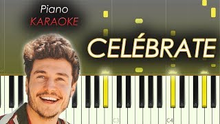 Miki Núñez   Celébrate | Piano KARAOKE  Tutorial  Cover