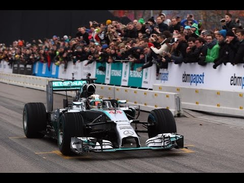 Lewis Hamilton And Nico Rosberg At Mercedes Stars And Cars